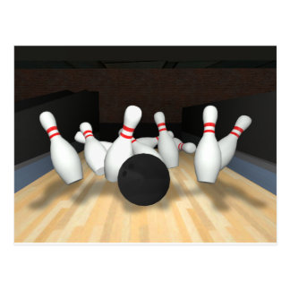 Bowling Ball & Pins: 3D Model: Postcard
