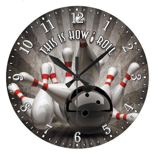 Pin By Gagan Sampla On Clocks: Bowling Ball Pins Man Cave Wall Clock