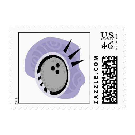 Bowling Ball Postage Stamp