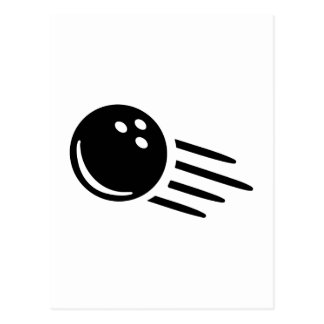 Bowling ball postcard