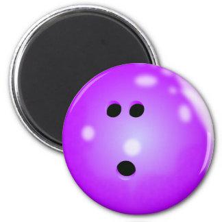 Bowling Ball (Purple) Magnet