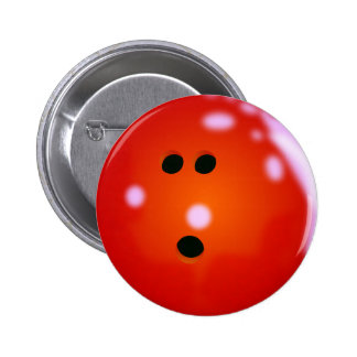 Bowling Ball (Red) Pinback Button