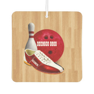 Bowling Ball Shoe And Pin With Your Custom Name Air Freshener