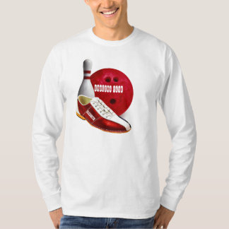 Bowling Ball Shoe And Pin With Your Custom Name T-Shirt