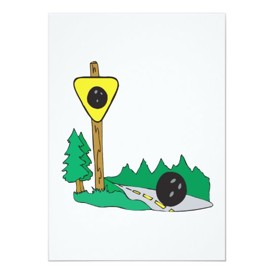 Bowling Ball Sign Card