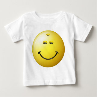 Bowling Ball Smiley Face Baby T-Shirt