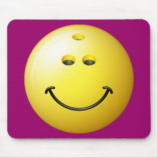 Bowling Ball Smiley Face Mouse Pad