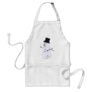 Bowling Ball Snowman Christmas Adult Apron