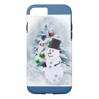 Bowling Ball Snowman Christmas iPhone 8/7 Case