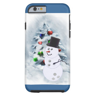 Bowling Ball Snowman Christmas Tough iPhone 6 Case
