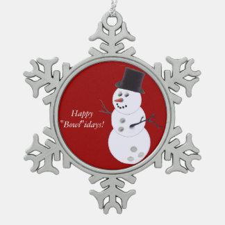 Bowling Ball Snowman Ornaments