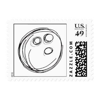 Bowling Ball Stamp