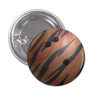 Bowling Ball Tiger Orange Button