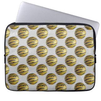 Bowling Ball Tiger Yellow Laptop Sleeve