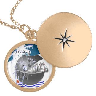 Bowling ball whale fish strike custom jewelry
