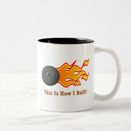 Bowling Ball With Flames Mug