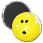Bowling Ball (Yellow) Magnet