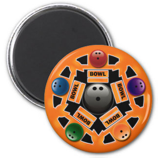 BOWLING BALLS 2 INCH ROUND MAGNET