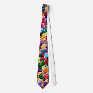 Bowling Balls Collage Tie