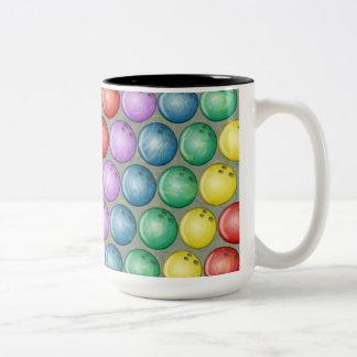 BOWLING BALLS Two-Tone COFFEE MUG