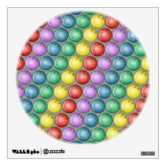 BOWLING BALLS WALL DECAL