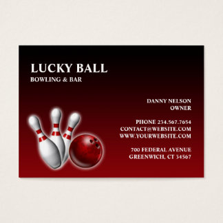 Bowling/Bar Chubby Business Card