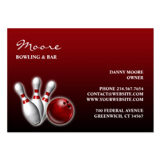 Bowling/Bar Chubby Business Card