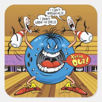 Bowling Beast Square Sticker