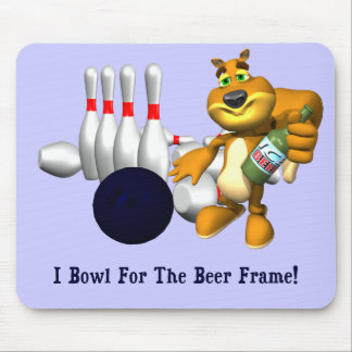 Bowling Beer Frame Mouse Pads