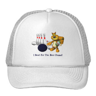 Bowling Beer Frame Trucker Hat