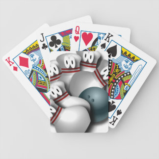 bowling bicycle playing cards