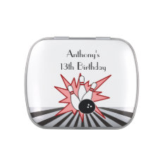 Bowling Birthday Candy Tins at Zazzle