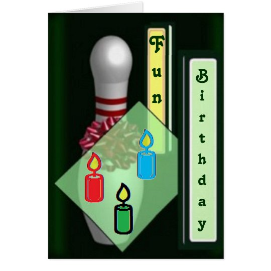 Bowling birthday cards
