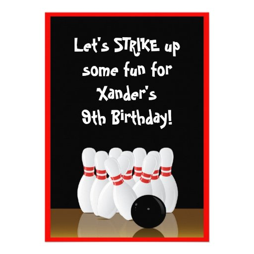 Bowling Party Invitation for beautiful invitation ideas