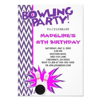 Bowling Birthday Invitations Announcements Zazzle