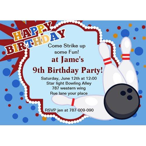 Bowling birthday party invitation zazzle_invitation