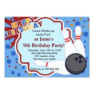 Bowling birthday party invitation