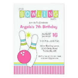 Bowling birthday party invitations announcements zazzle bowling birthday party invitation filmwisefo Choice Image