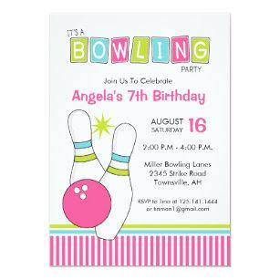 Bowling Alley Invitations Zazzle