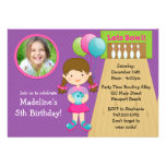 Bowling Birthday Party Invitation with Photo