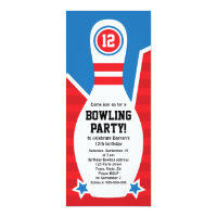 Bowling Birthday Party Invitations Announcements Zazzle