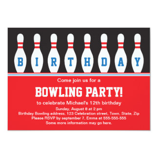 bowling party invitations & announcements | zazzle, Party invitations