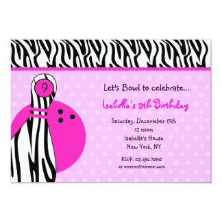 Bowling Birthday Party Invitations & Announcements   Zazzle