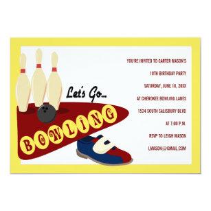 Bowling birthday party invitations announcements zazzle bowling birthday party invitations filmwisefo