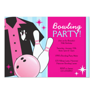 Adult Bowling Party Invitations Announcements Zazzle