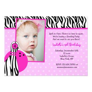 Bowling Birthday Party Invitations Photo