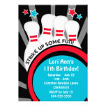 Bowling Birthday Party Personalized Invitations