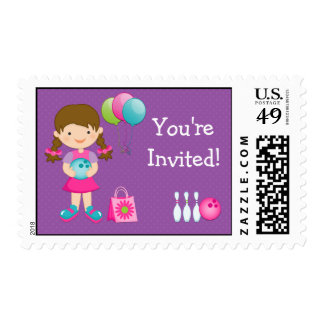 Bowling Birthday Party Postage Stamp