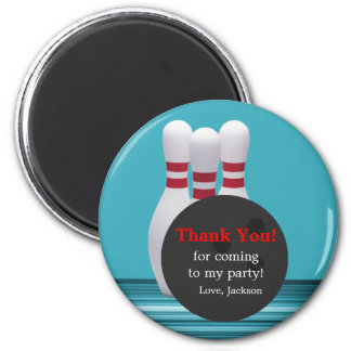 Bowling Birthday Party Thank You Magnet