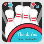 Bowling Birthday Party Thank You Stickers